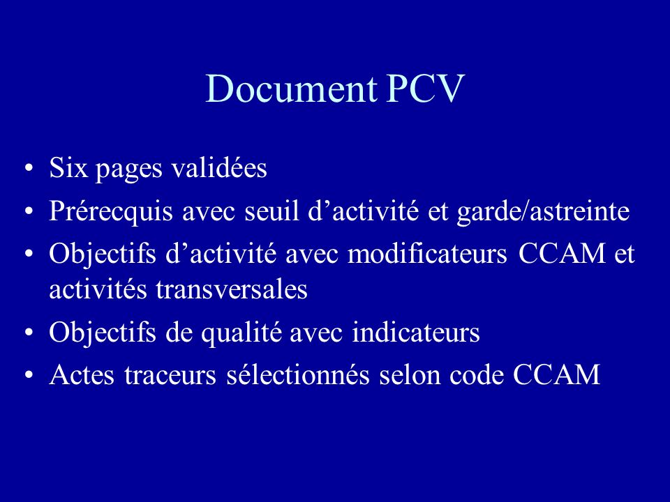 Document PCV Six pages validées