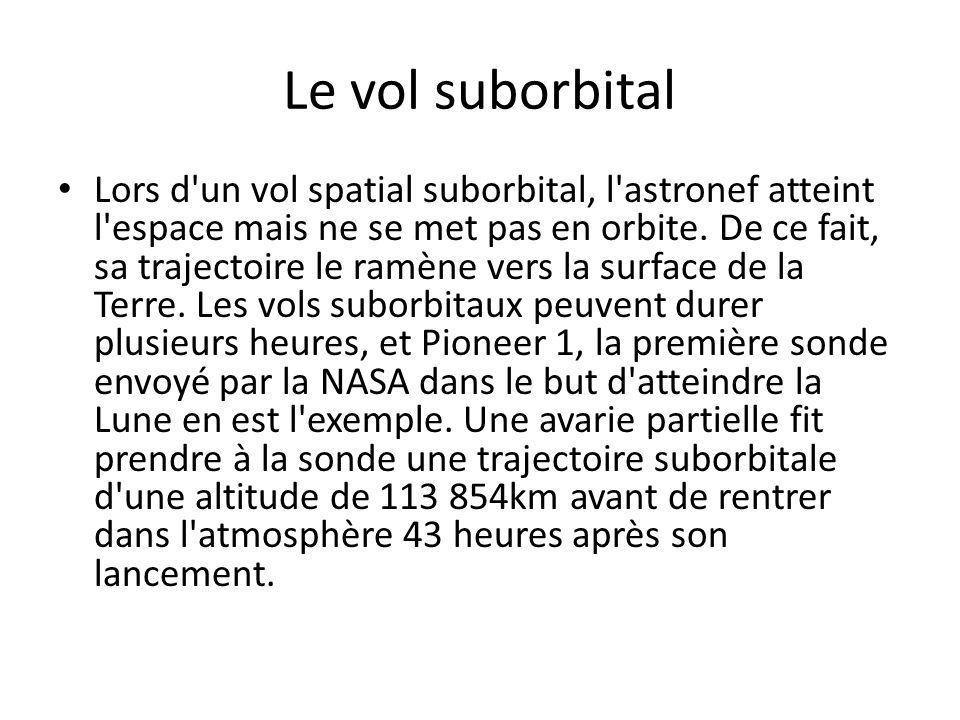 Le vol suborbital