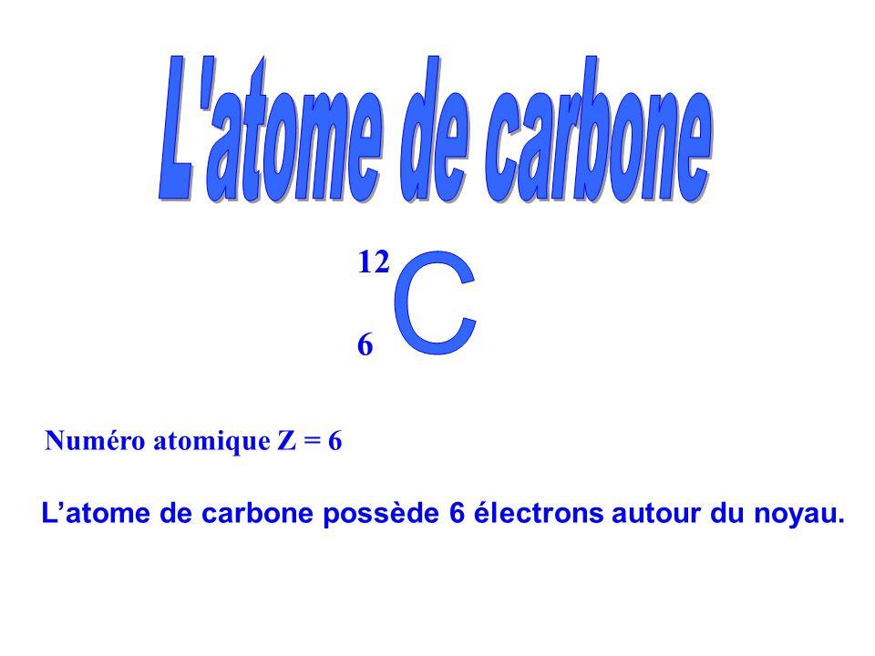 L atome de carbone 12 6 C Numéro atomique Z = 6
