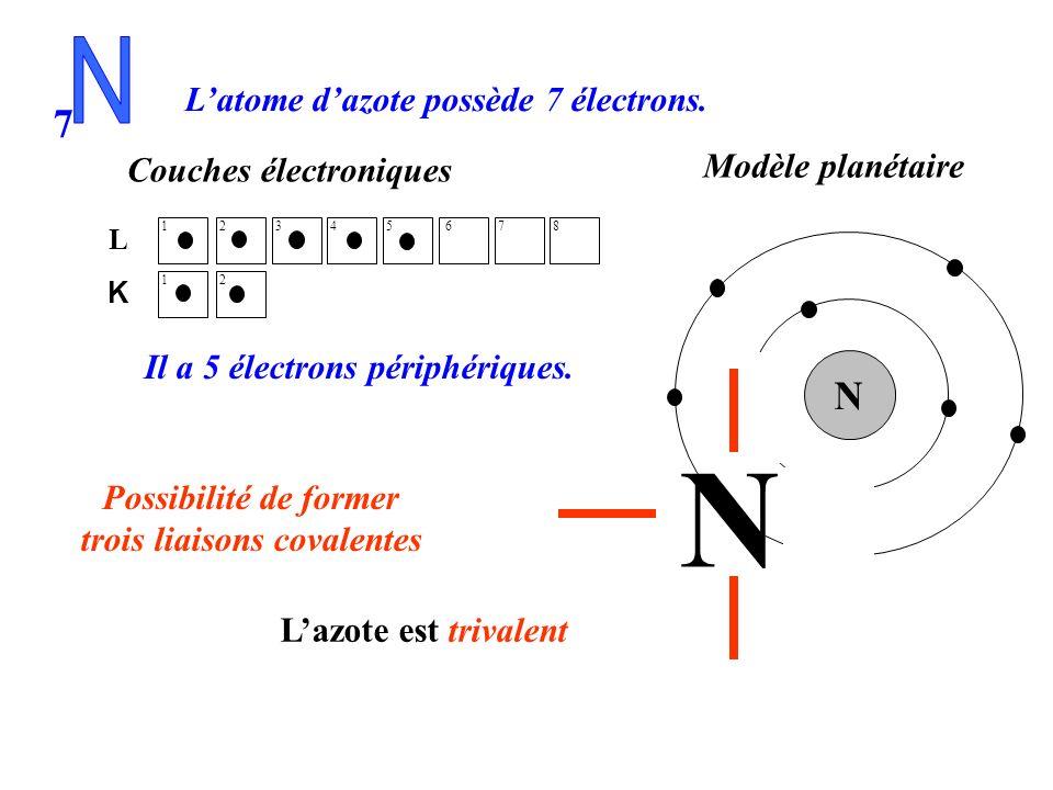 trois liaisons covalentes