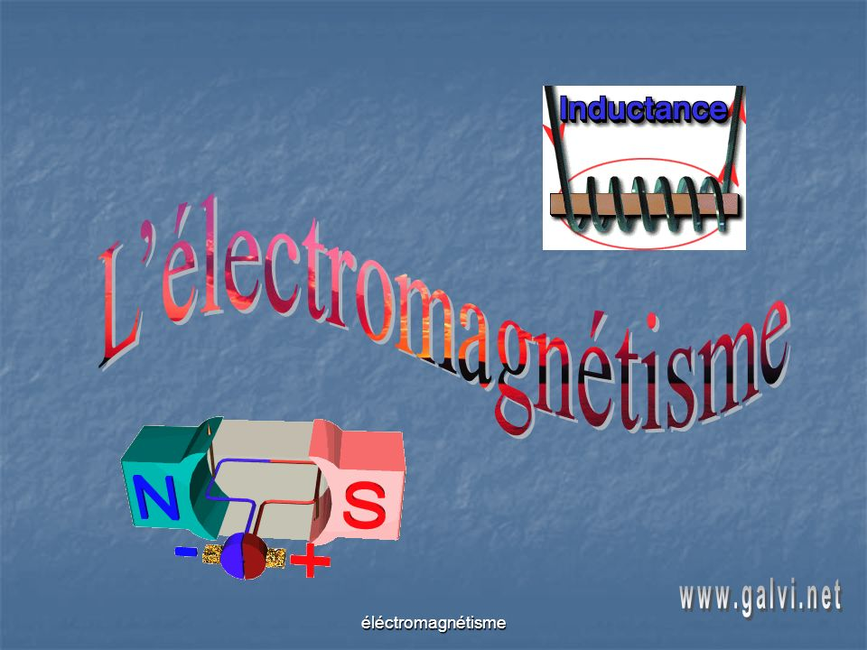 L'électromagnétisme www.galvi.net éléctromagnétisme