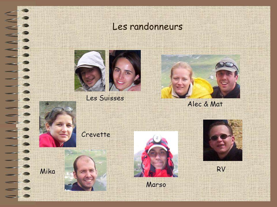 Les randonneurs Les Suisses Alec & Mat Crevette RV Mika Marso