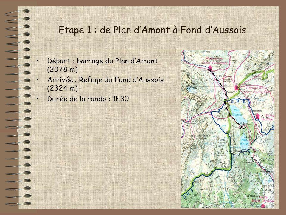 Etape 1 : de Plan d'Amont à Fond d'Aussois
