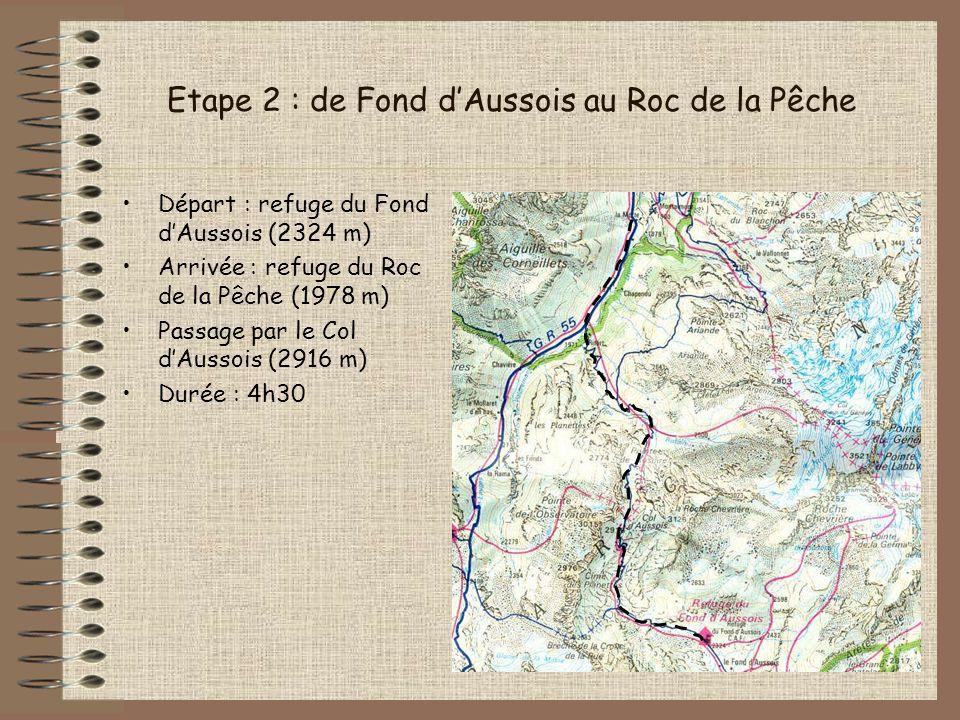 Etape 2 : de Fond d'Aussois au Roc de la Pêche