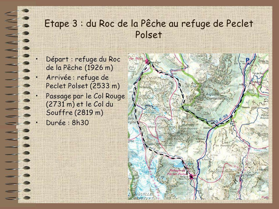 Etape 3 : du Roc de la Pêche au refuge de Peclet Polset