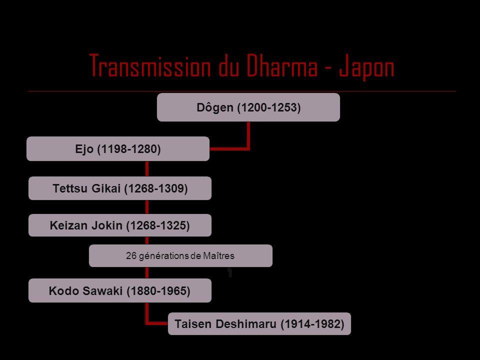 Transmission du Dharma - Japon