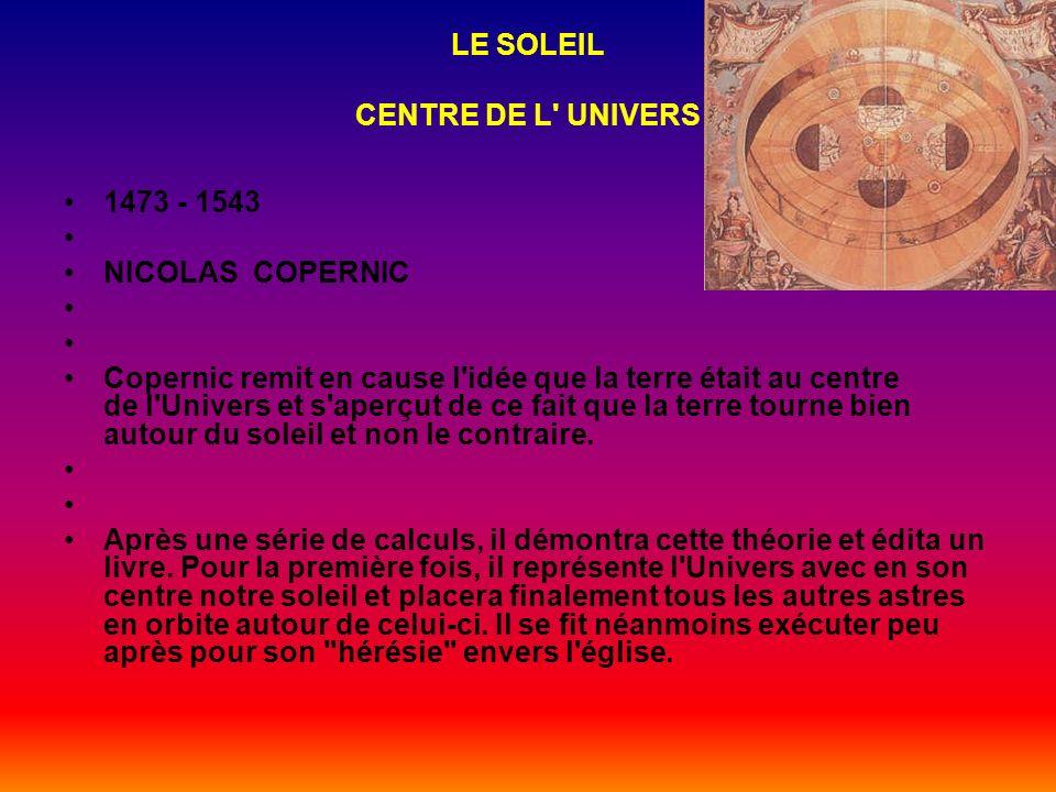 LE SOLEIL CENTRE DE L UNIVERS