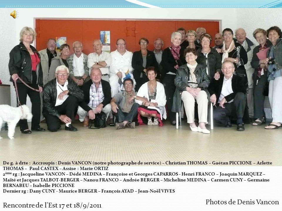 Photos de Denis Vancon Rencontre de l Est 17 et 18/9/2011