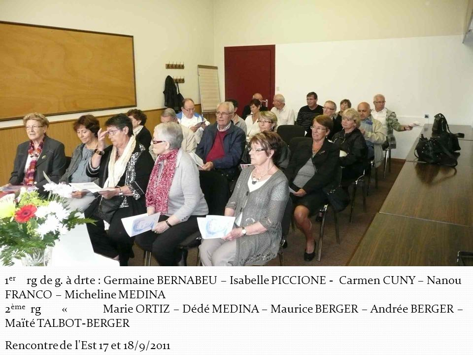 1er rg de g. à drte : Germaine BERNABEU – Isabelle PICCIONE - Carmen CUNY – Nanou FRANCO – Micheline MEDINA
