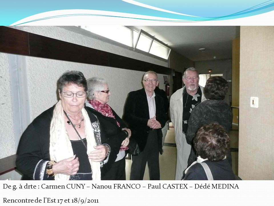 De g. à drte : Carmen CUNY – Nanou FRANCO – Paul CASTEX – Dédé MEDINA