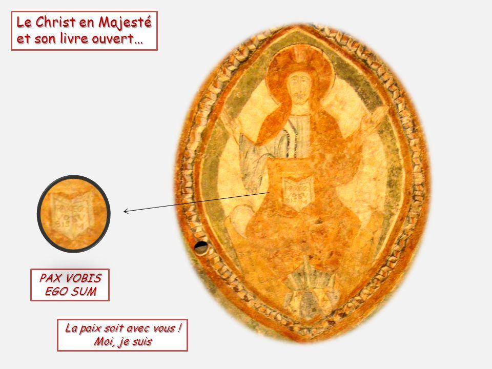 Le Christ en Majesté et son livre ouvert… PAX VOBIS EGO SUM