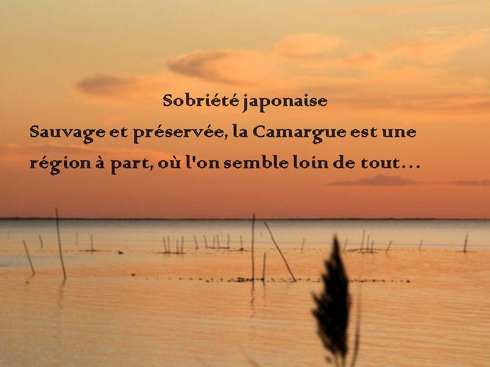 Sobriété japonaise Sauvage et préservée, la Camargue est une.