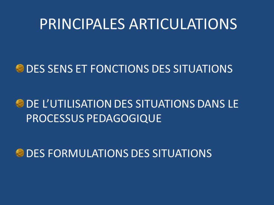 PRINCIPALES ARTICULATIONS