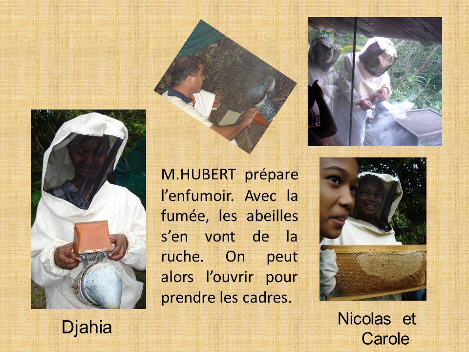 M. HUBERT prépare l'enfumoir