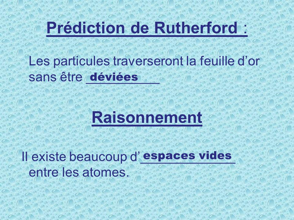 Prédiction de Rutherford :