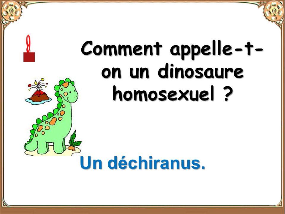 Comment appelle-t-on un dinosaure homosexuel