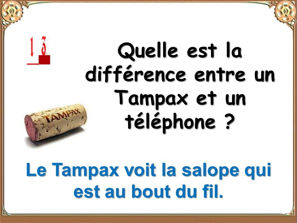 Quelle est la différence entre un Tampax et un téléphone