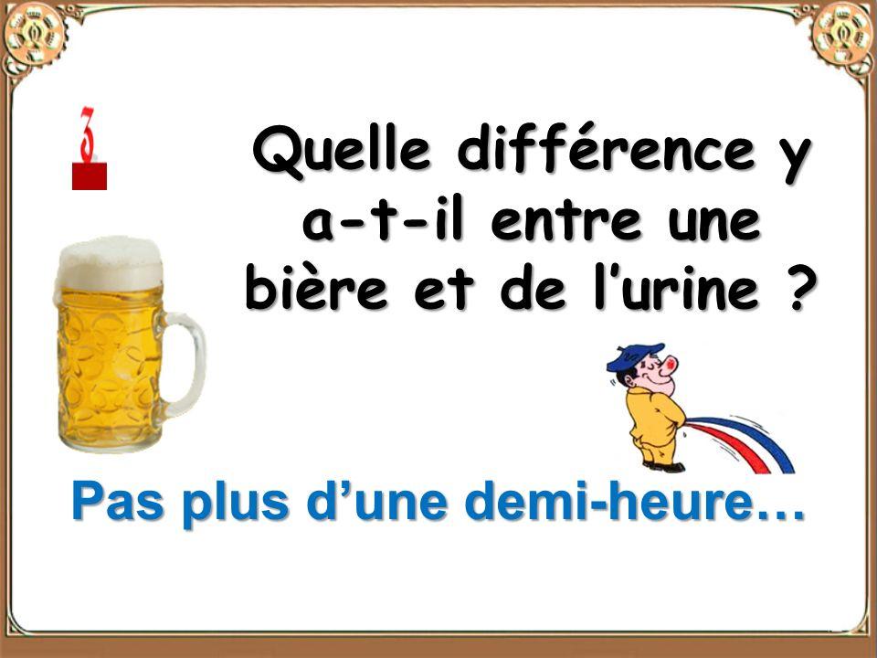 Quelle différence y a-t-il entre une bière et de l'urine