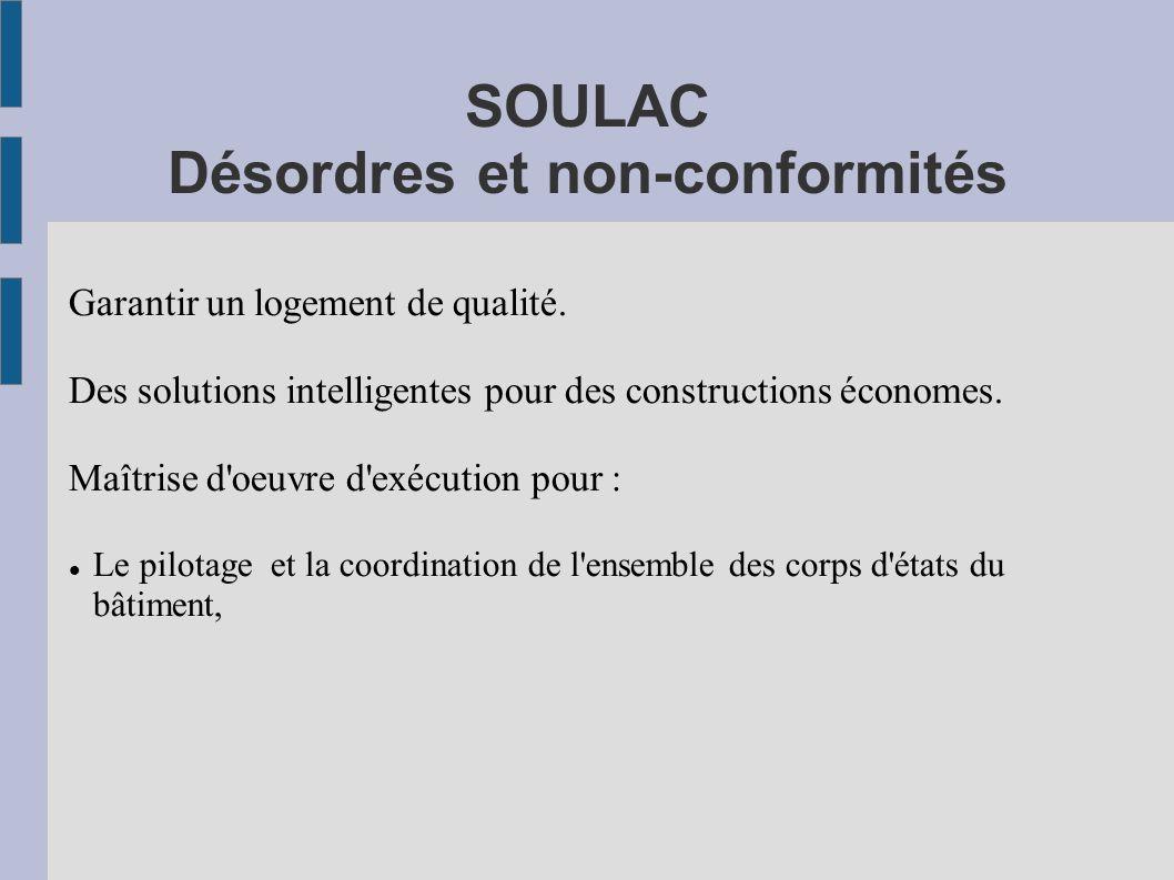 SOULAC Désordres et non-conformités