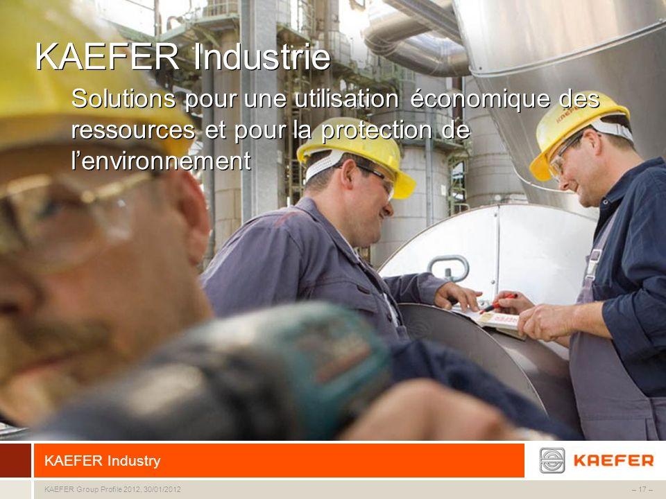 KAEFER Industrie Solutions pour une utilisation économique des ressources et pour la protection de l'environnement.