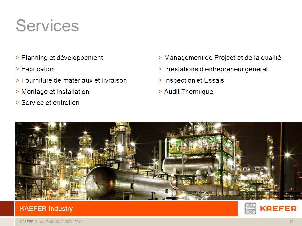 Services Planning et développement Fabrication