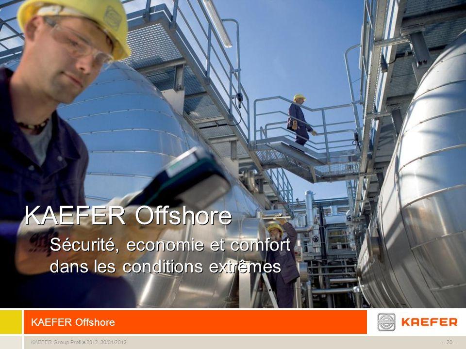 KAEFER Offshore Sécurité, economie et comfort dans les conditions extrêmes KAEFER Offshore