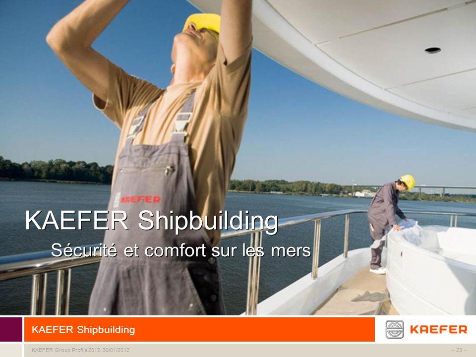 KAEFER Shipbuilding Sécurité et comfort sur les mers