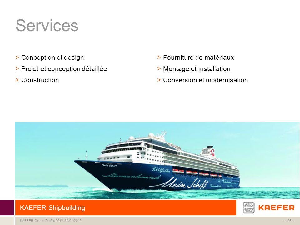 Services Conception et design Projet et conception détaillée