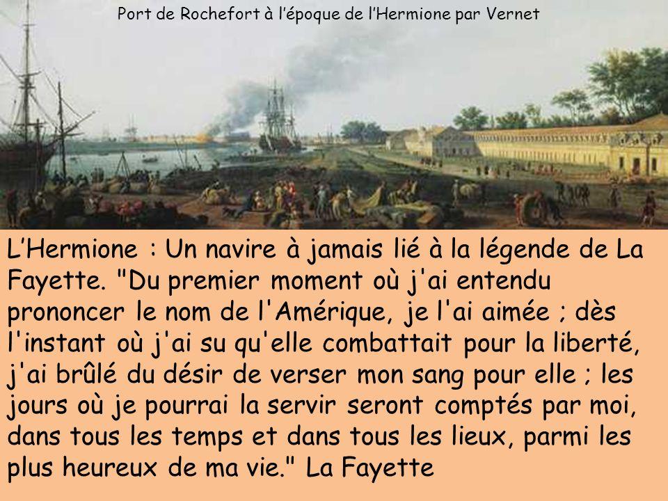 Port de Rochefort à l'époque de l'Hermione par Vernet