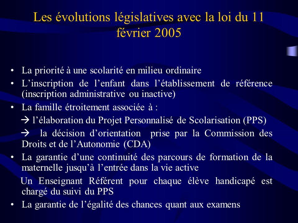 Les évolutions législatives avec la loi du 11 février 2005
