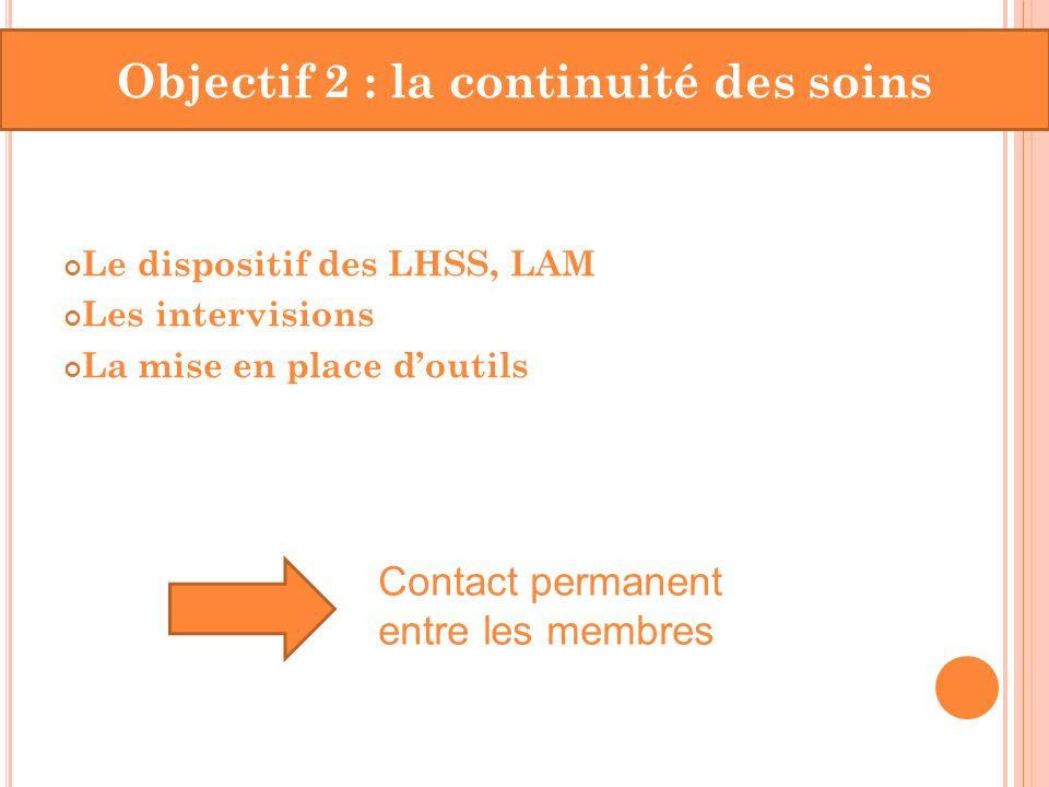 Objectif 2 : la continuité des soins
