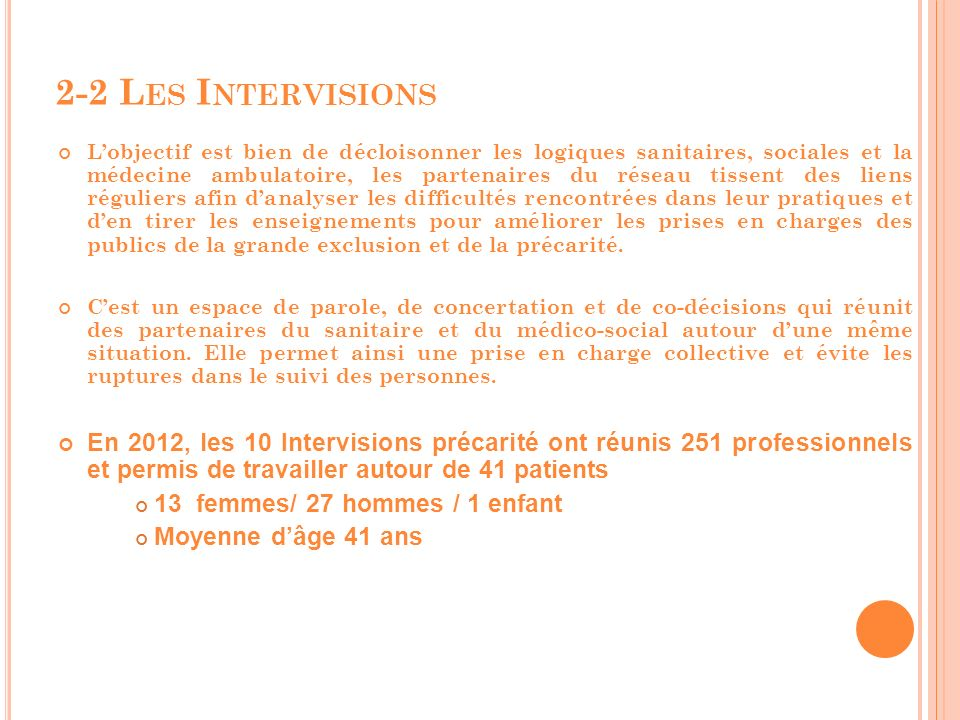 2-2 Les Intervisions