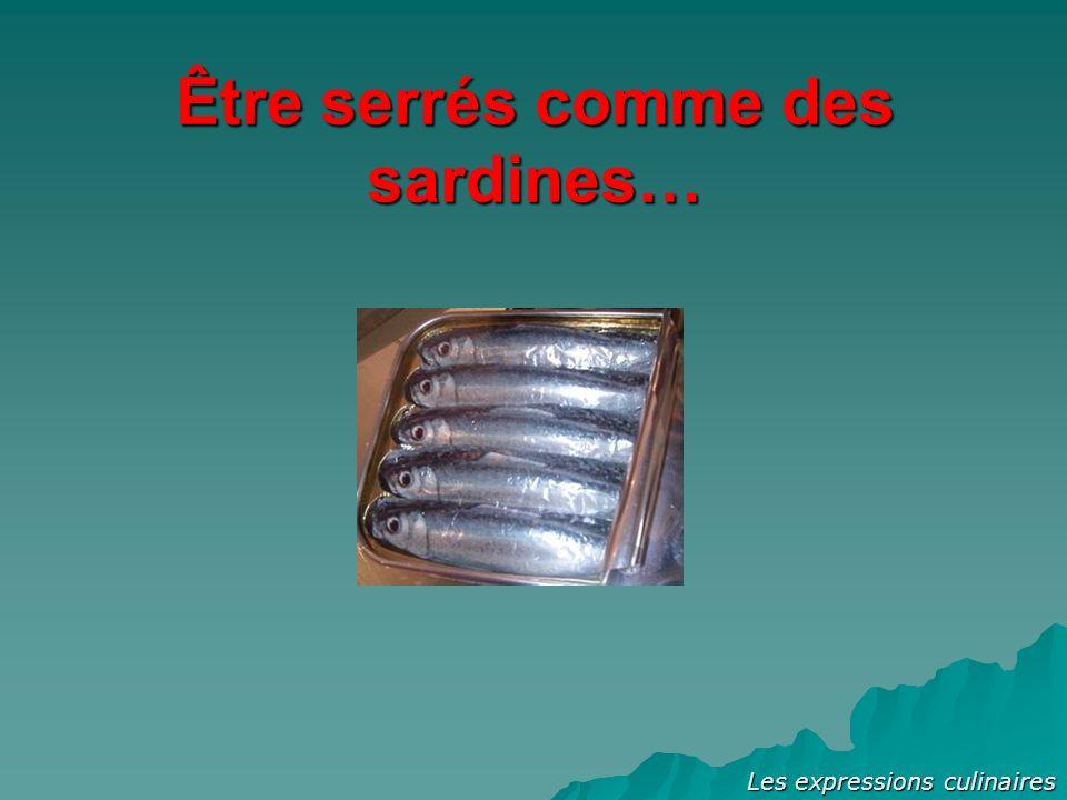 Être serrés comme des sardines…
