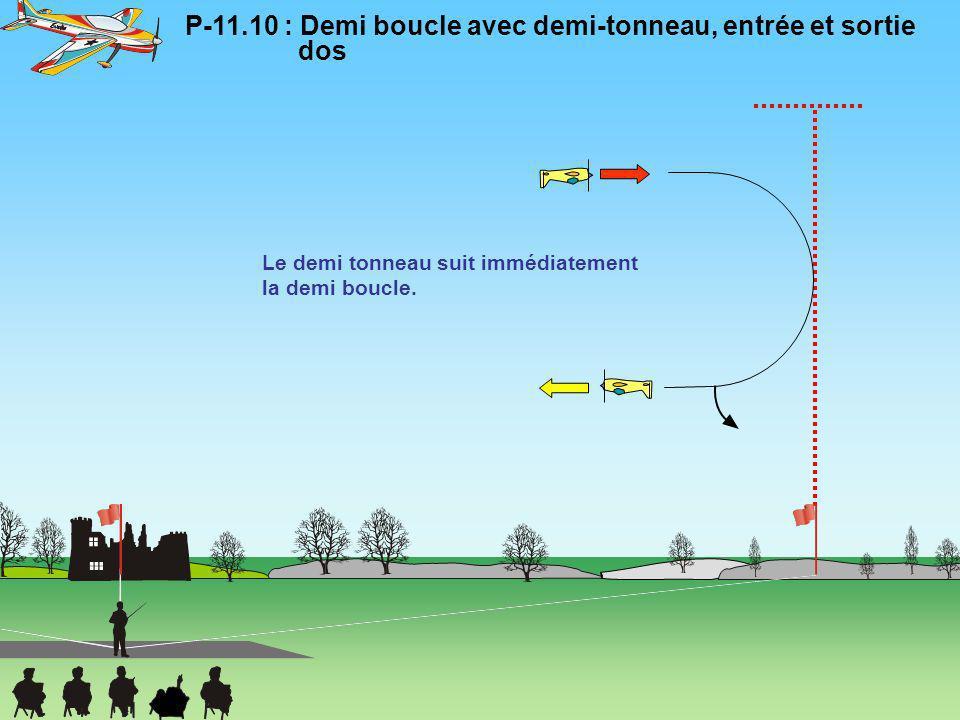 P-11.10 : Demi boucle avec demi-tonneau, entrée et sortie dos