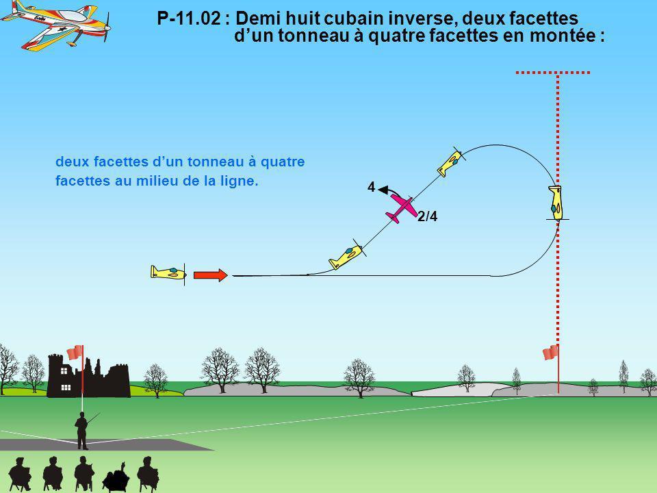 P-11. 02 : Demi huit cubain inverse, deux facettes