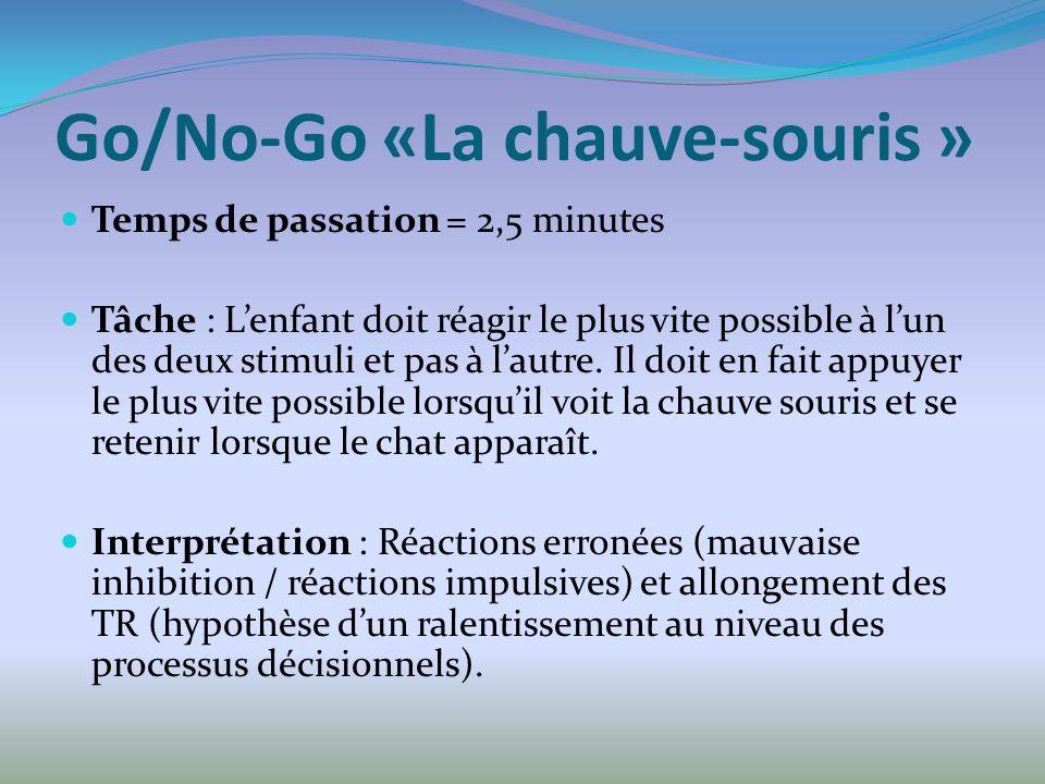 Go/No-Go «La chauve-souris »