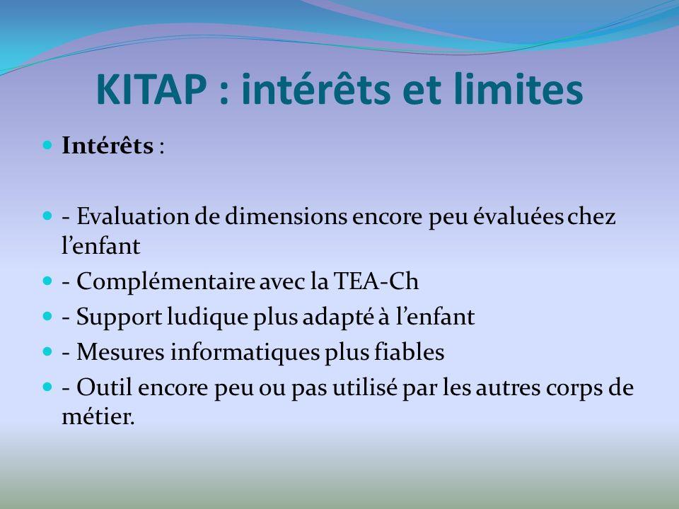 KITAP : intérêts et limites