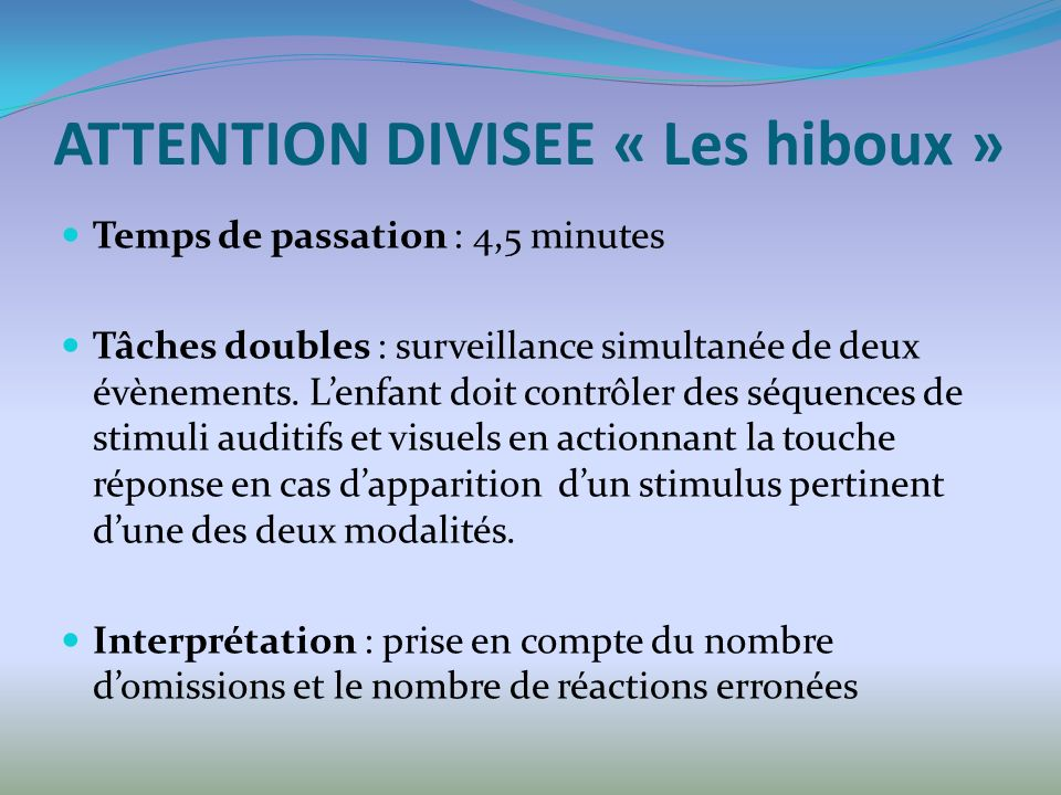 ATTENTION DIVISEE « Les hiboux »