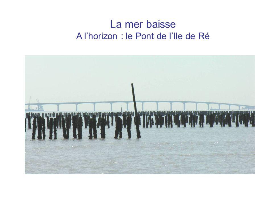 La mer baisse A l'horizon : le Pont de l'Ile de Ré