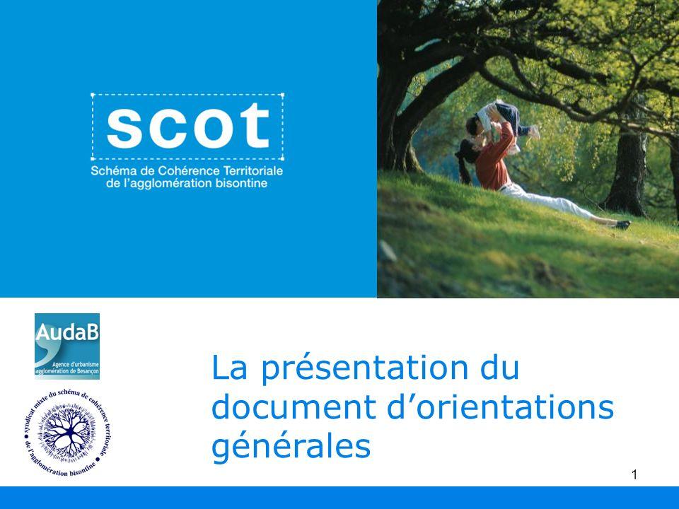 La présentation du document d'orientations générales