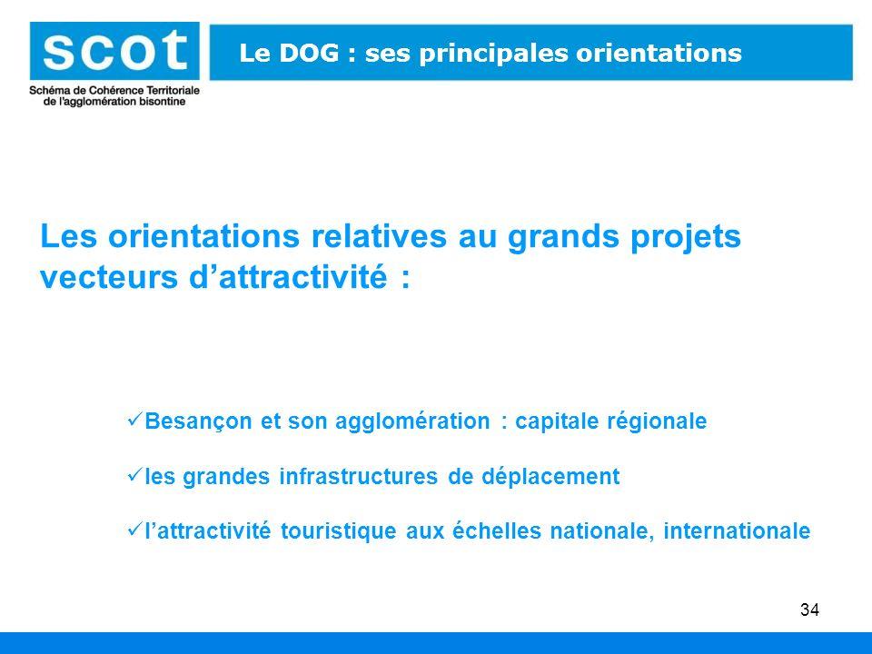 Les orientations relatives au grands projets vecteurs d'attractivité :