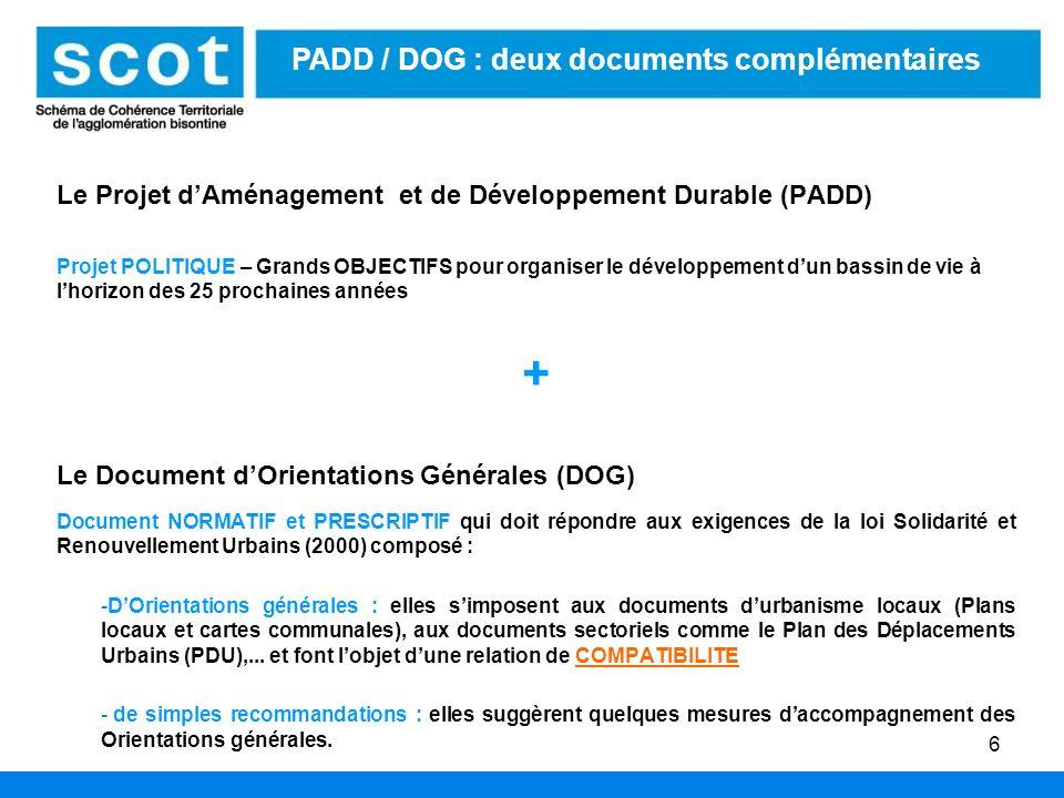 + PADD / DOG : deux documents complémentaires