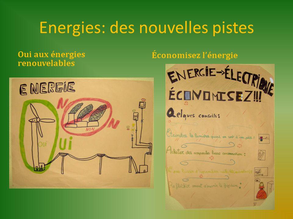 Energies: des nouvelles pistes