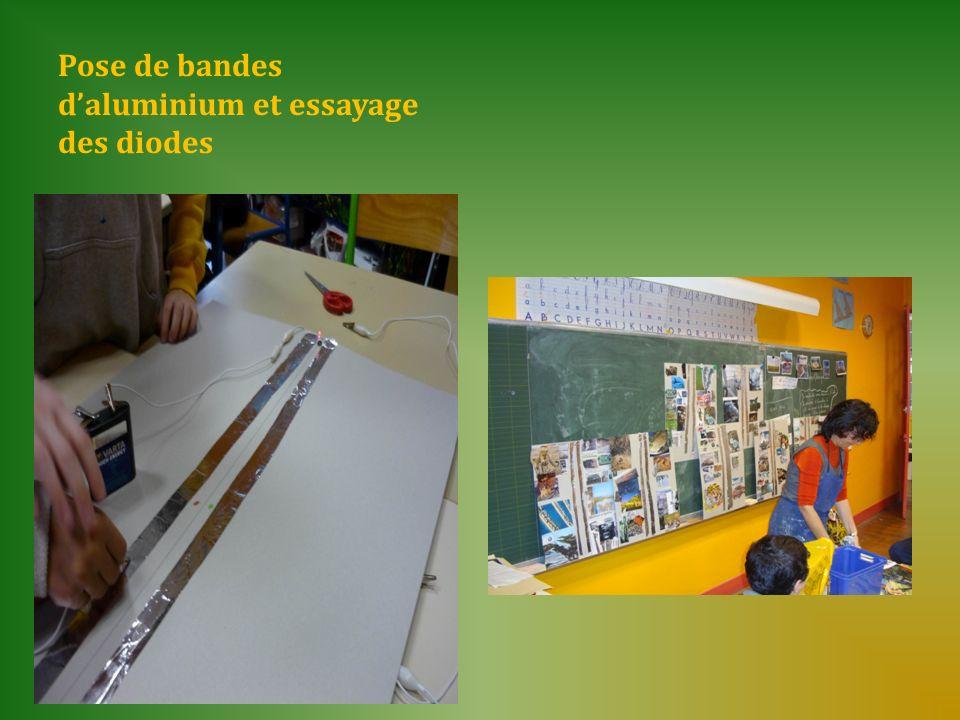 Pose de bandes d'aluminium et essayage des diodes
