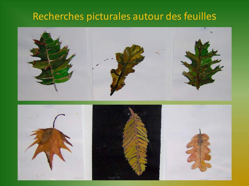 Recherches picturales autour des feuilles