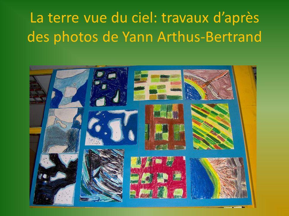 La terre vue du ciel: travaux d'après des photos de Yann Arthus-Bertrand