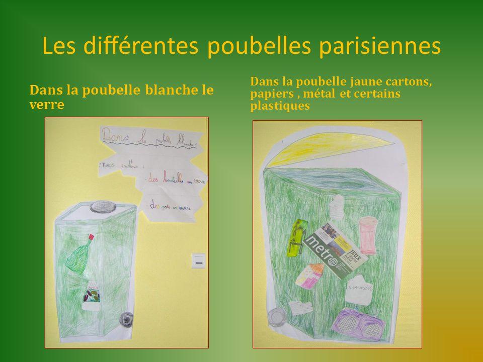Les différentes poubelles parisiennes