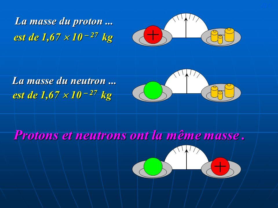 Protons et neutrons ont la même masse .
