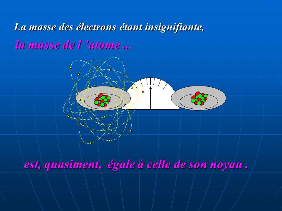 La masse des électrons étant insignifiante,