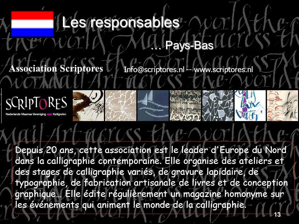 Les responsables … Pays-Bas Association Scriptores